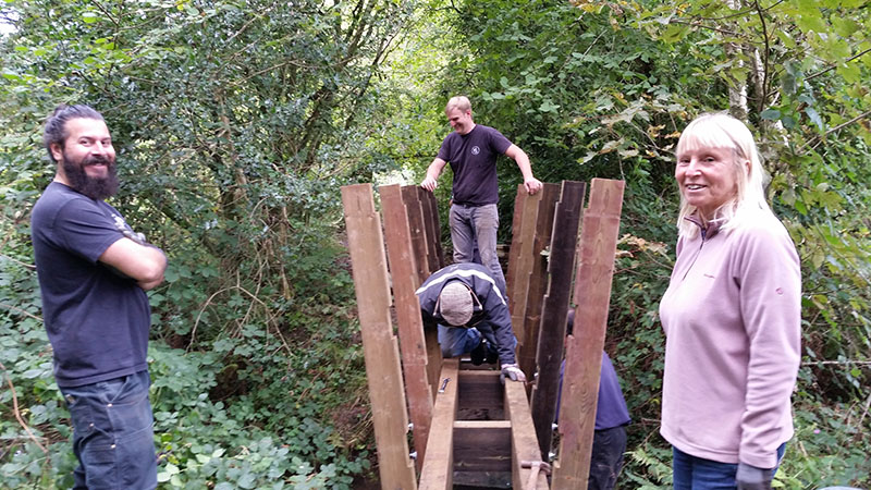 New bridge near Fairwood Common